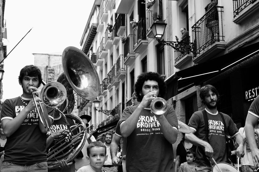 The Arrival of the Brass Band Check This Out Street Blackandwhitephotography Black&white Black & White Black And White Blackandwhite Streetphoto_bw Streetphotography_bw Blackandwhite Photography Black And White Photography San Sebastian Fujixe2 Fujifilm X-E2 Fujifilmxe2 Fujifilm_xseries Street Photography Streetphotography Streetphoto Walking Brass Band Brass Band Music Musician