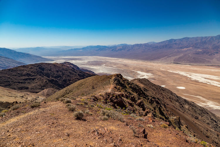 Beauty In Nature Blue Blue Sky Clear Sky Day Desert Landscape Mountain Mountain Range Nature No People