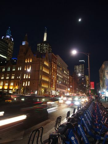 City Night Lights Flinders St #Melbourne Night View