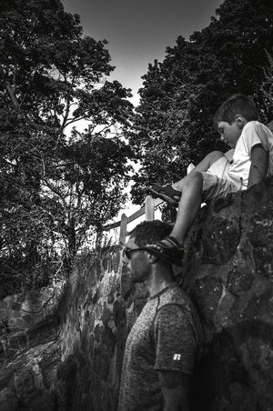 Fatherhood Moments Daddy And Son Father And Son Parenting Black And White Family Time Seaside Climbing Rocks Bnw Beach Enjoying Life Blackandwhite Autism Fresh On Eyeem