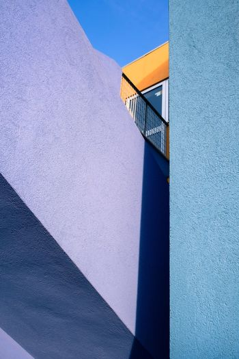 Staircase against sky