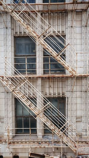 Architecture Built Structure Building Exterior No People Day Outdoors Chicago Fire Escape