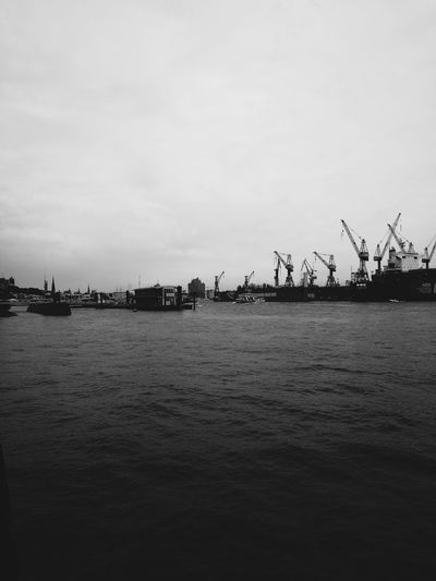hh. Outdoors Sky Water No People Nature Silhouette Day Sea Beach Bird Building Exterior City Black And White HuaweiP9 Minimal The Week On EyeEm Travel Destinations EyeEm Best Shots The Way Forward Work Architecture Fischmarkt Hamburg Freshness Connection