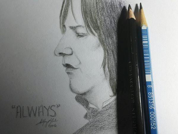 Severus Snape drawing Drawing ArtWork MyArt Snape Beginner Artist Art Sketchbook Pencil Drawing Passion