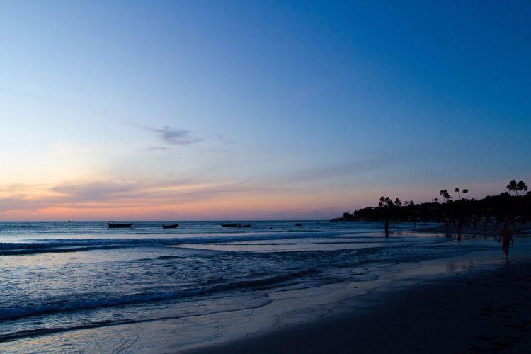 Blue Hour After Sunset Beach Blue Water Magic Light Sunset