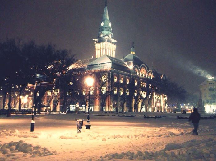 Subotica Winter December Cityhall Wunderfulnight Snow ❄ Learn & Shoot: After Dark Here Belongs To Me My City