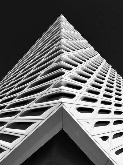 The Broad Museum in Los Angeles. Architectural Detail Architectural Feature Architecture Architecture Architecture_bw Architecture_collection Black & White Black And White Black And White Photography Building Exterior Built Structure City Day Los Angeles, California Low Angle View Modern Museum No People Outdoors Sky The Broad The Architect - 2017 EyeEm Awards