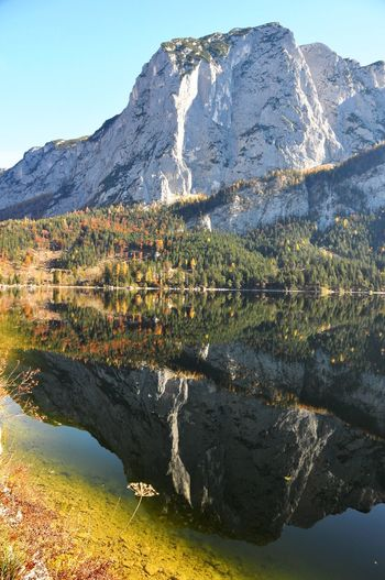 Autumn Alpine Alps Salzkammergut Austria Altaussee Mountain Reflection Mountain Range Water Scenics Lake Nature Beauty In Nature Tranquil Scene Outdoors Waterfront Tranquility No People Day Landscape Travel Destinations Sky