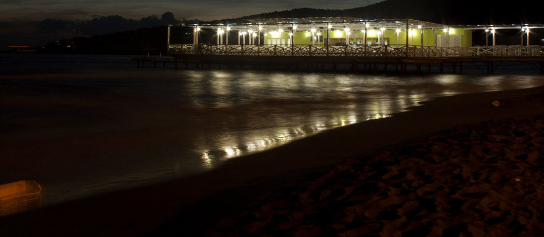 Architecture Beach Beauty In Nature Built Structure Coffee Nature Night No People Outdoors Reflection Water
