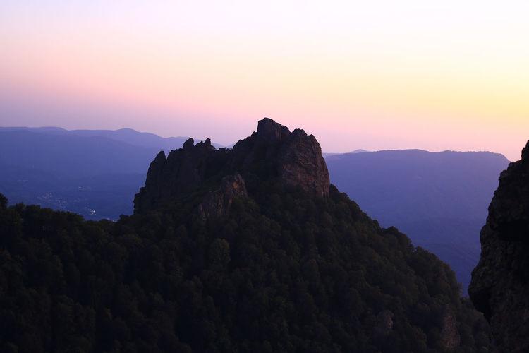 Caucasus Beauty In Nature Mountain Mountain Peak Mountain Range Nature No People Outdoors Sky Sunset Go Higher