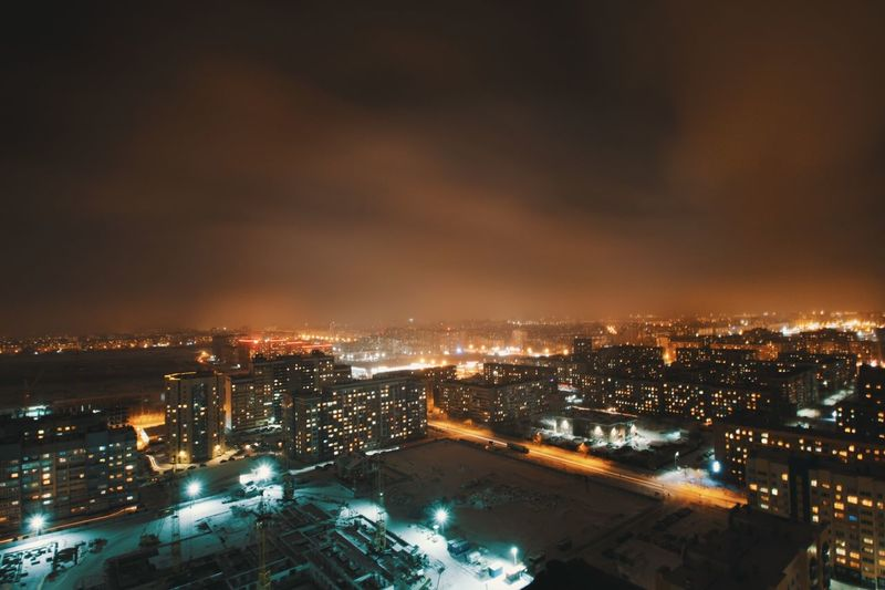 Город под покровом ночи Illuminated Architecture Cityscape City Night No People Built Structure Building Exterior Outdoors Sky