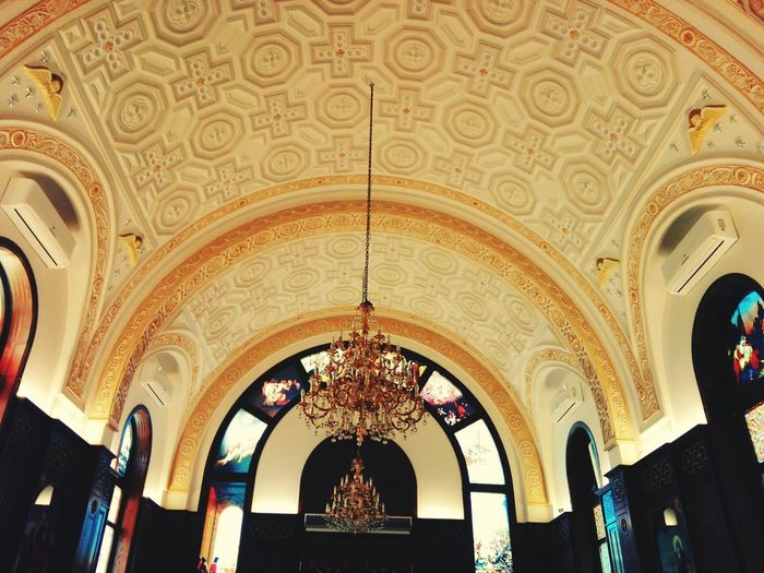 Ceiling Indoors  Architecture Travel Destinations Low Angle View Arch No People Day Fresco