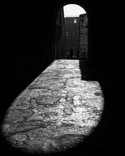 Colosseum Rome Blackandwhite Photography Inside The Colosseum Follow The Light Archs Sony A6000 Sunlight History Travel Destinations Tourist Attraction  Rome The Way Up To The Light