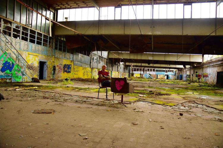 A Special Place Sitting Man Old Buildings Old Ruin Old Ruins Armchair Heart ❤ Love ♥ Apocalypse Apocalyptic Alone In My Room Alone Unexpected Unexpected Pictures Lostplaces Lost Place Lost Places Abandoned Places Hulk Profundity EyeEmIAmNewHere Herz ❤ Verlassene Orte Abondoned Vergänglichkeit EyeEmNewHere The Secret Spaces