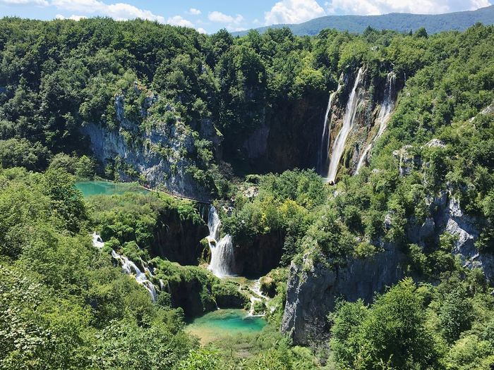 Scenic view of waterfalls in plitvice lakes national park