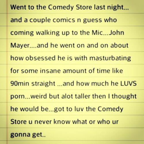 Comedystore , Comedy , Sunsetbvld , Fridaynight , johnmayer