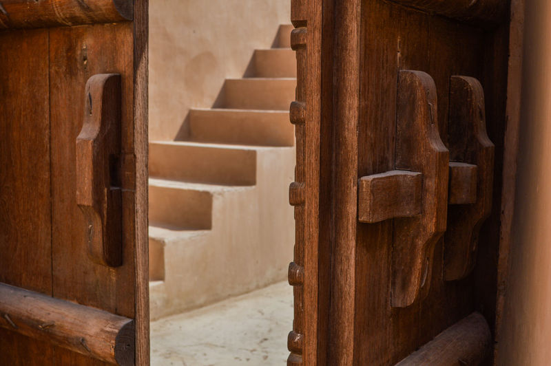 Ancient Architecture Building Exterior Built Structure Close-up Day Door Indoors  No People Old-fashioned Staircase Steps Wood - MaterialEyeEmNewHere