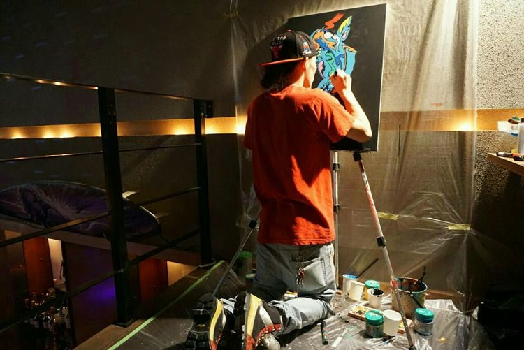 In Japan Live Painting Nightphotography Club Night Good Music. Japanese