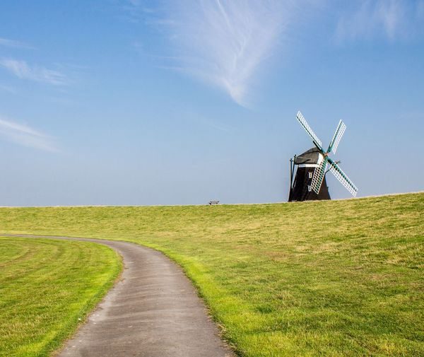 Breathing Space Alternative Energy Windmill Outdoors Nature Tranquility Northsea Rural Scene Pellworm Island