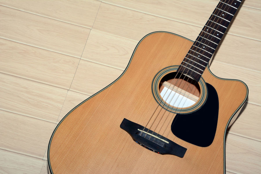 Arts Culture And Entertainment Classical Guitar Day Electric Guitar Fretboard Guitar High Angle View Indoors  Music Musical Equipment Musical Instrument Musical Instrument String No People