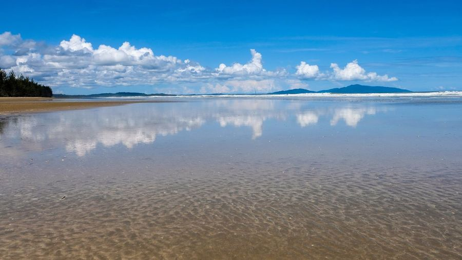Sematan beach EyeEm Selects Water Sky Beauty In Nature Scenics - Nature Beach Sea Low Tide Reflection Blue Land Cloud - Sky Sand My Best Photo