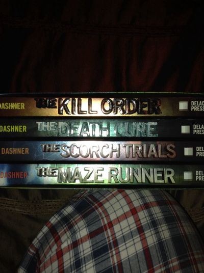 Bout to do an all nighter and finish THE MAZE RUNNER SERIES!!!! ?? The Maze Runner The Scorch Trials The Death Cure The Kill Order