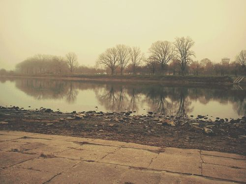 2 years ago... Memory River Riverside River View Riverbank Winter Tisza Tiszapart