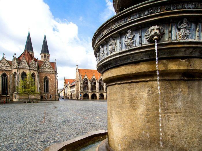 Miniature Fountain Gothic Architecture Gothic Art Medieval Medieval Architecture Town Hall Brunswick Braunschweig