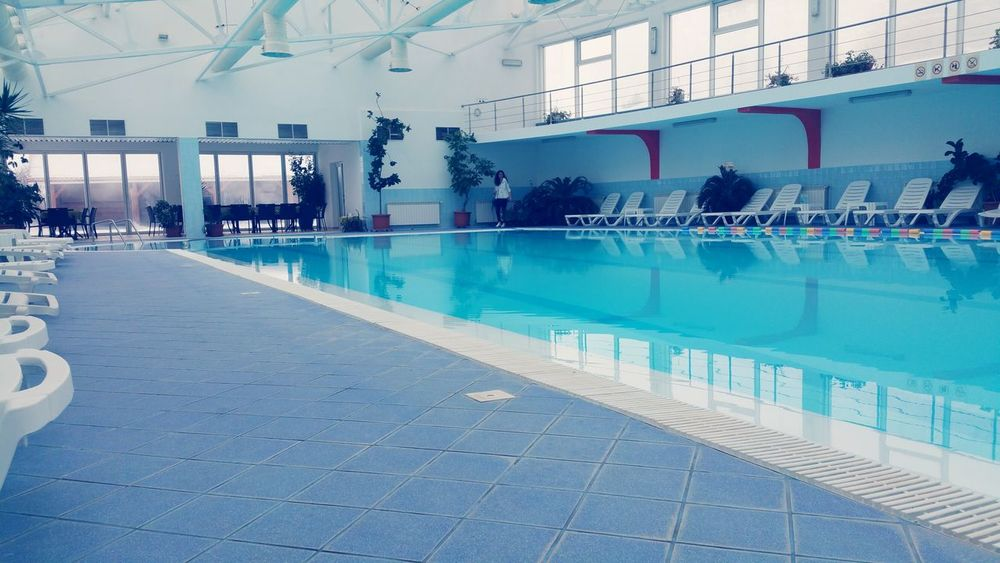 Swimming Pool Reflection Water Architecture No People Day Outdoors Romania Medias Romanian