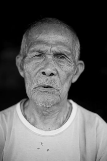 Uniqueness Portrait Headshot Senior Adult One Man Only Only Men Wrinkled Mature Adult Looking At Camera Black Background Fine Art People One Person INDONESIA Oldness Cloudy Eyes Sadness Deep Thoughts Wrinkles Wrinkled Skin Wrinkle Of Life Wrinkled Face Wrinkles Of A Long Life Lived Senior Men B/W Portrait