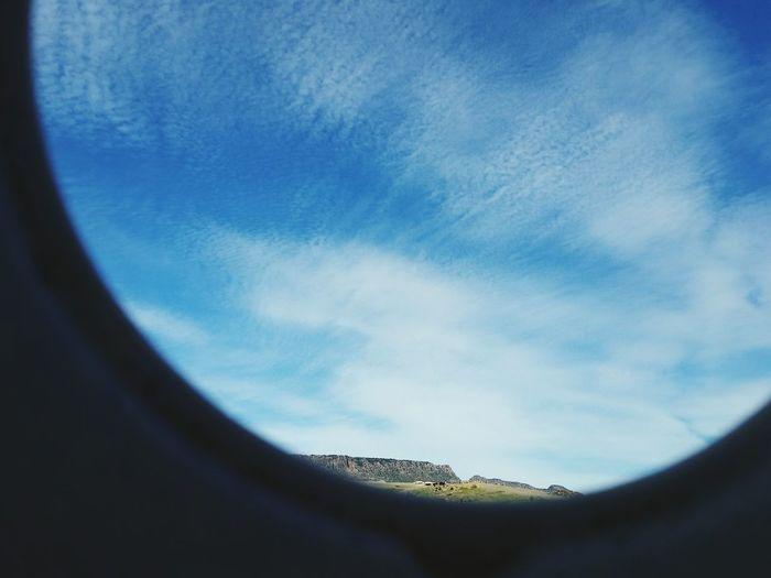 The blue sky...