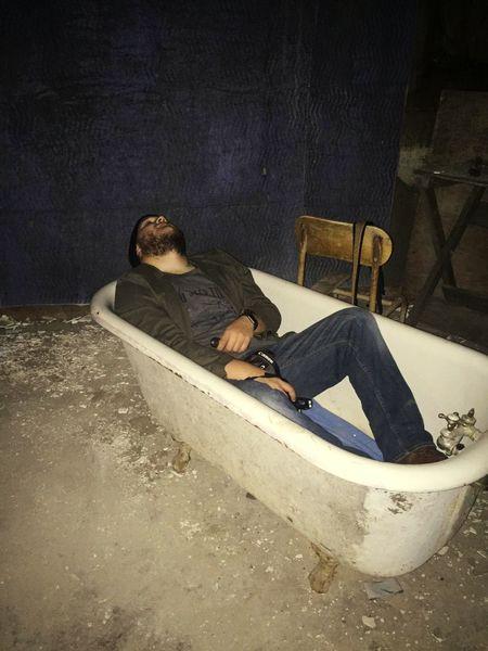 Bath tub nap Bathtub Asylum Ghost Hunting Urban Exploration Haunting  Haunted Ghost