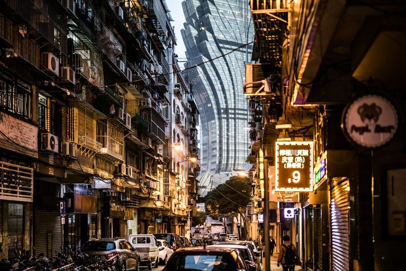 street Architecture Building Exterior Built Structure City Building Illuminated Mode Of Transportation