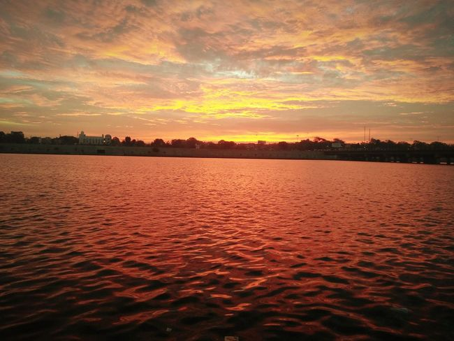 Why to edit when your picture is perfect.. Skyisburning Sky Is Carpet Of Nature Sunset Orange Color Reflection Lake Cloud - Sky Nature Red Beauty In Nature Beauty Sky Water Outdoors Horizon No People EyeEm Ready