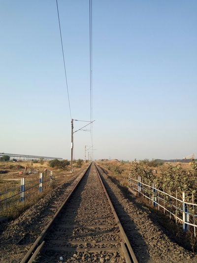 Railway Tracks Along Landscape