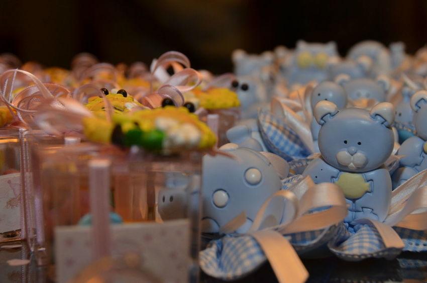 Baptism Bonbonniere Celebration Horizontal Indoors  Large Group Of Objects No People Selective Focus