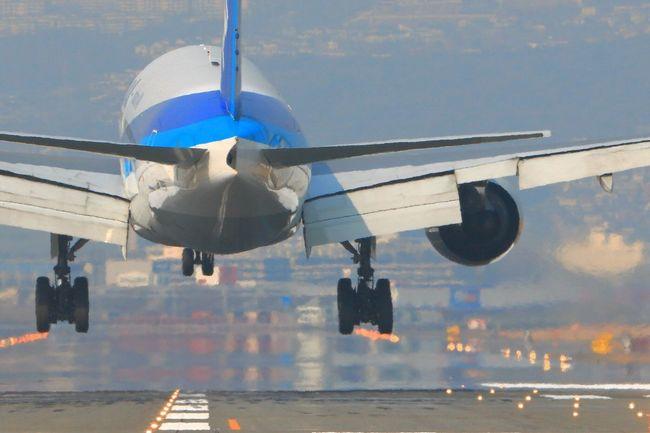 ボーイング777-200 大阪国際空港 千里川 Japan Osaka,Japan AirPlane ✈ Boeing777 Airport Airplane Shot Airplane View