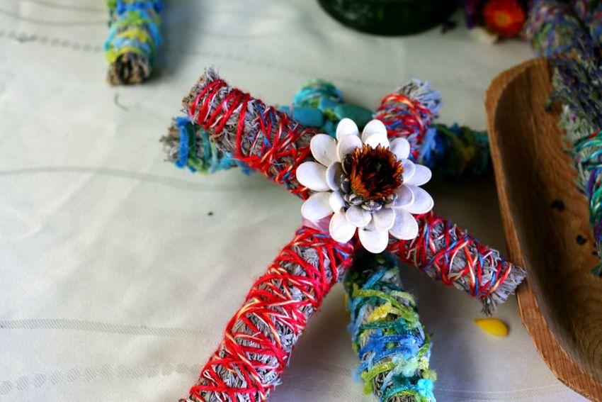 Smudge Sticks Smudge Stick Cross EyeEm Selects Flower City Multi Colored High Angle View Close-up Art And Craft Art Craft ArtWork Street Art