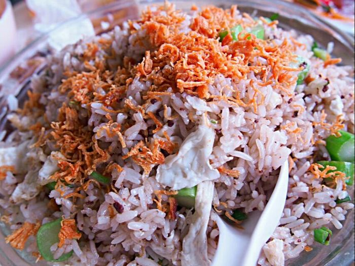 Prawn paste scallop fried rice Fried Rice Food Porn Eyeem Food  Delicious Food