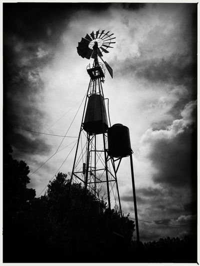 El molino. Low Angle View Cloud - Sky Outdoors Windmill No People Day Alternative Energy Magdalena Buenos Aires, Argentina  Popckorn Blackandwhite