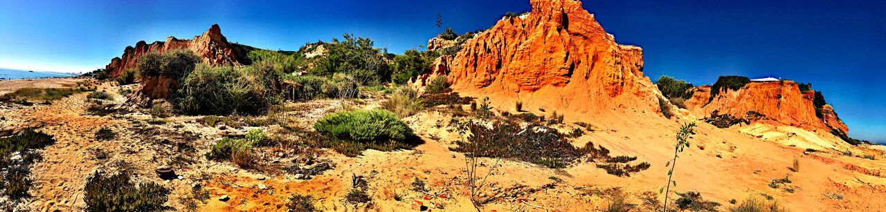 Vale do Lobo beach Iphonephotography Travel Portugal Portugal_em_fotos Portugaldenorteasul Sky Plant Nature No People Rock Day Low Angle View The Great Outdoors - 2018 EyeEm Awards