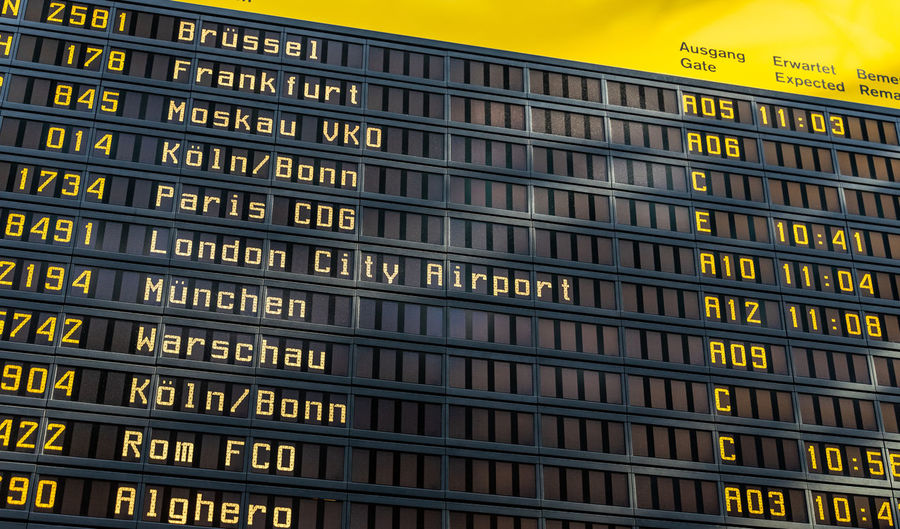 Close-up Information Technology Full Frame In A Row Repetition Travel Destinations Transportation Backgrounds Western Script Arrival Departure Board Architecture Sign Text No People Number Communication Board Timetable Business Finance And Industry Business Traveling Travel Airport Public Transportation