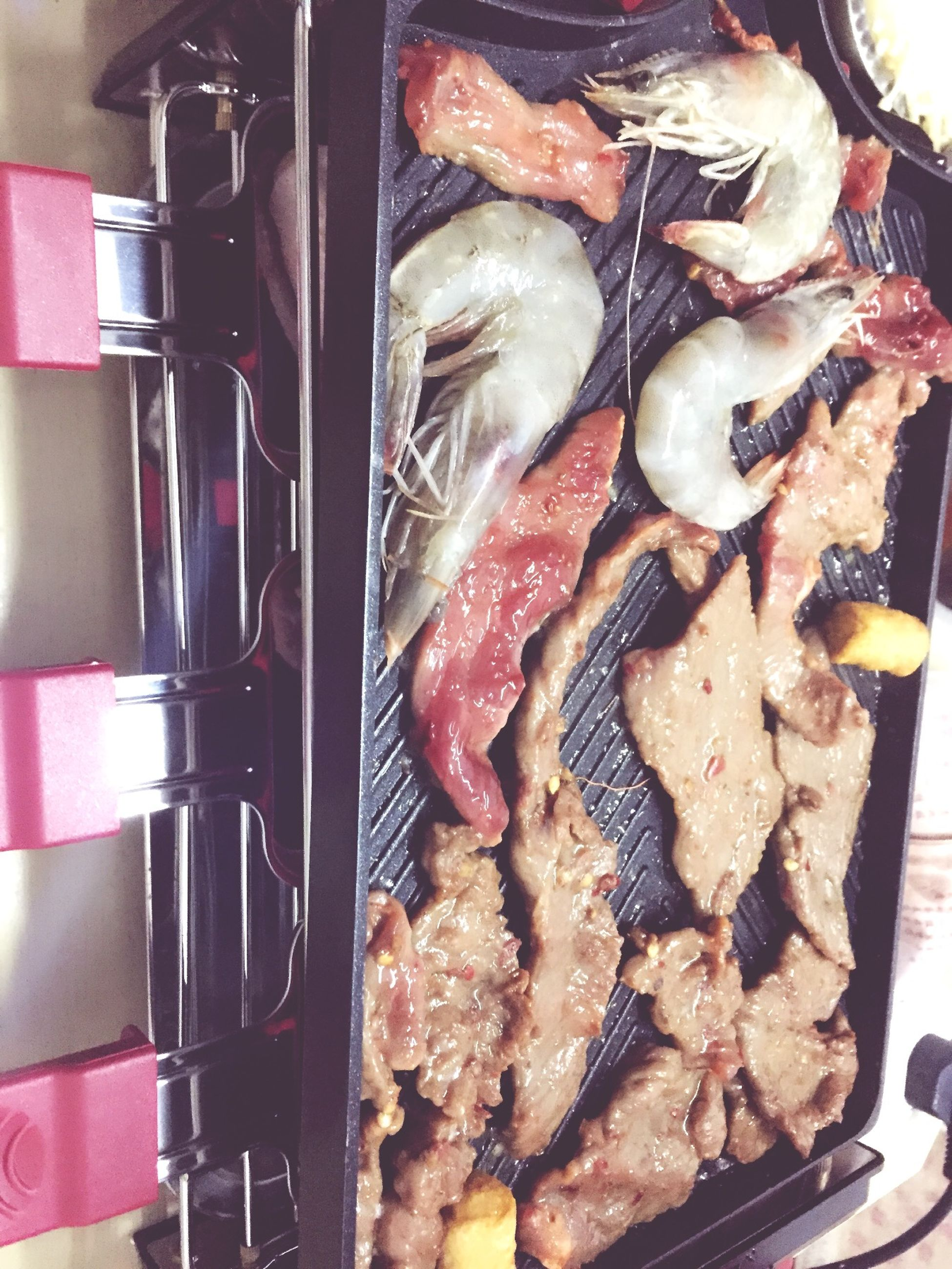 food and drink, food, freshness, indoors, meat, healthy eating, still life, cooking, preparation, grilled, barbecue grill, preparing food, close-up, meal, ready-to-eat, barbecue, seafood, heat - temperature, sausage