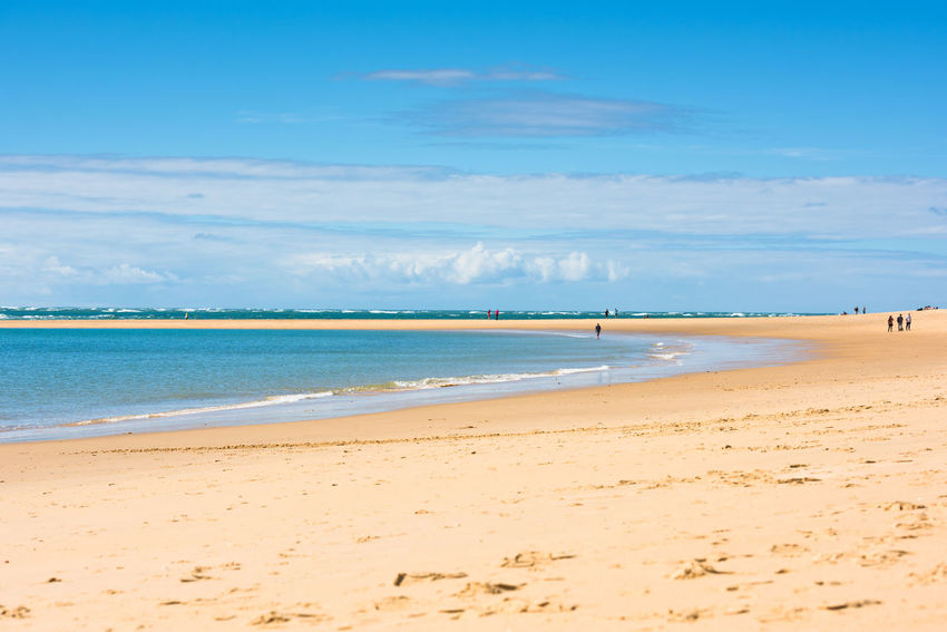 Sand Atlantic beach, France Arcachon Atlantic Ocean Beach Blue Calm Cap Ferret Day France Horizon Over Water Landscape Nature Ocean Outdoors Sand Scenics Sea Seascape Sky Still Summer Travel Water