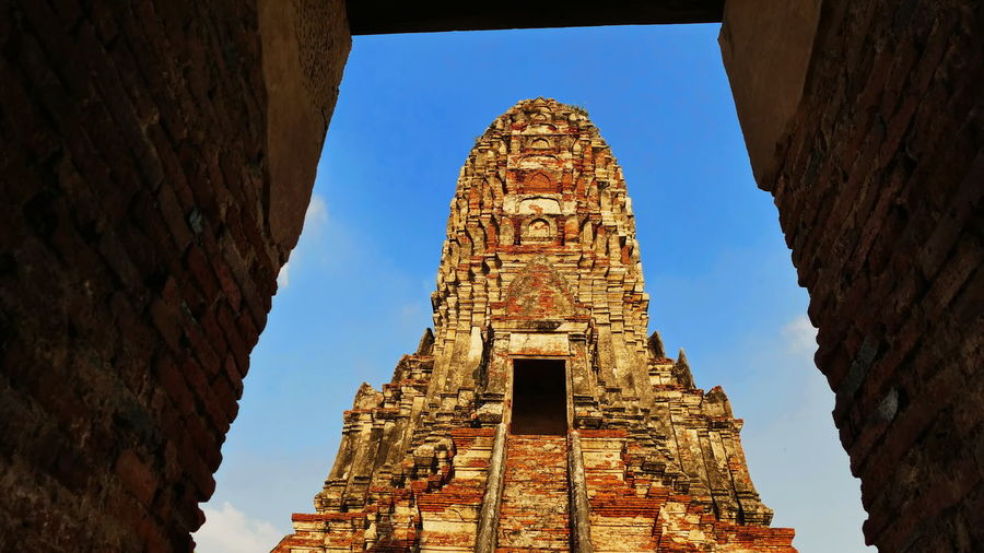 Stupa Wat Chai Watthanaram Ancient Ancient Civilization Archaeology Architecture Belief Buddhist Temple Budhhist Ornaments Building Building Exterior Built Structure Chedi History No People Old Old Ruin Religion Ruined Sky Spirituality The Past Tourism Travel Travel Destinations