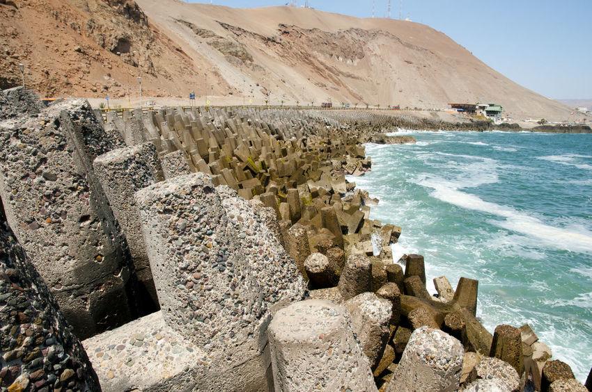 Dolos Concrete Blocks - Arica - Chile Chile Concrete Blocks Dolos Arica Beach Coast Ocean Pacific Ocean Sea