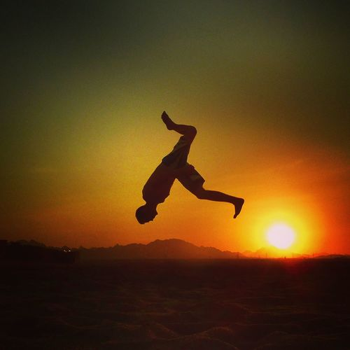 Acrobatic Adult Adults Only Backflip Day Excitement Freedom Full Length Handstand  Jumping Mid-air Motion One Man Only One Person Only Men Outdoors People Real People Skill  Sky Sport Stunt Sunset Sunset_collection Tricking