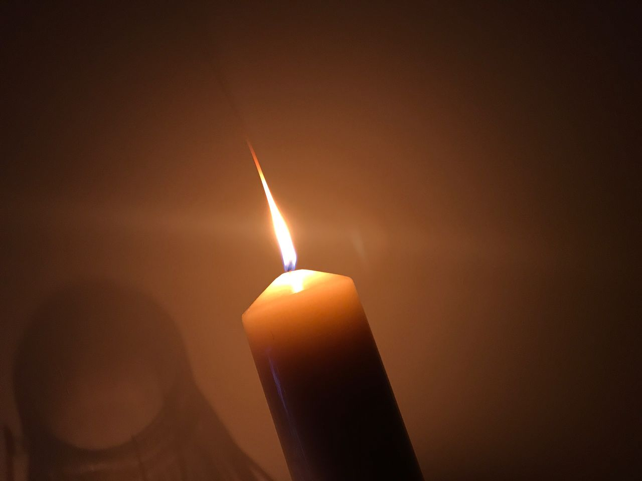 flame, candle, burning, glowing, heat - temperature, illuminated, lighting equipment, no people, close-up, indoors, night