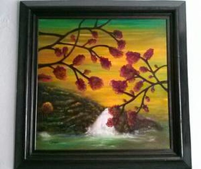 Autumn Landscape, from The Four Seasons Collection. Original oil painting by E. Giupponi colors of autumn relaxing Enjoying Life Colors Of Autumn Starbuck At Eden Roc