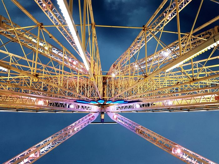 Low Angle View Arts Culture And Entertainment Business Finance And Industry Travel Destinations Built Structure Sky Ferris Wheel Complexity Cityscapes The Week On EyeEm Cityscape Mix Yourself A Good Time Symmetry City Lights Marseille Paint The Town Yellow #urbanana: The Urban Playground
